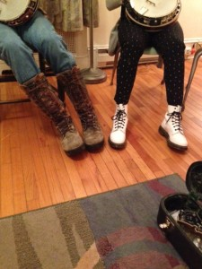 Father and daughter: Boot Scootin Boogie !